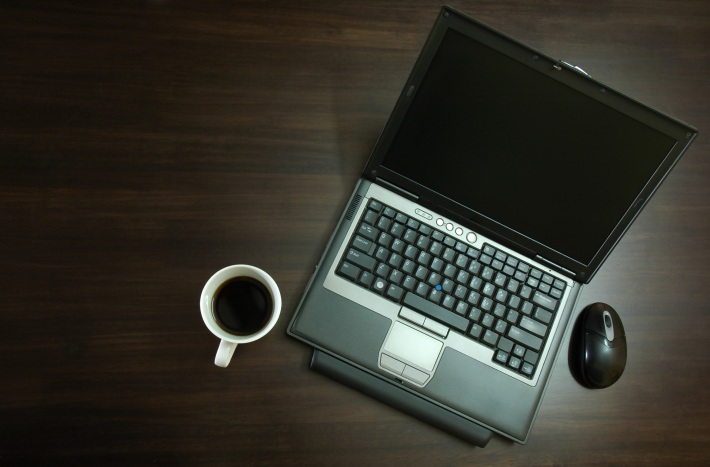 laptop coffee