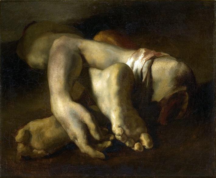 1818-1819 Théodore Gericault-'Estudio de pies y manos'