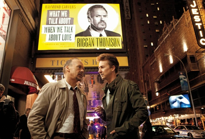 Birdman movie Michael Keaton Edward Norton